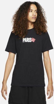 Jordan Męski T-Shirt Z KrÓtkim Rękawem Paris - Czerń - Ceny i opinie T-shirty i koszulki męskie UJTA
