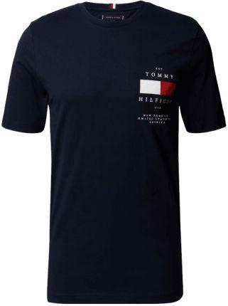 Tommy Hilfiger T-Shirt Z Nadrukiem Z Logo - Ceny i opinie T-shirty i koszulki męskie WFFH