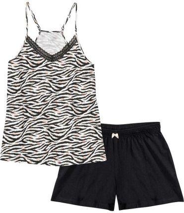 Piżama z koszulką na cienkich ramiączkach i krÓtkimi spodniami , bonprix - Ceny i opinie Pidżamy damskie ARJK