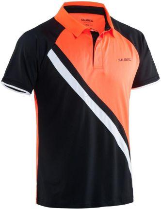 Salming Performance Polo Men Black/Magma Red - Ceny i opinie T-shirty i koszulki męskie KVKG