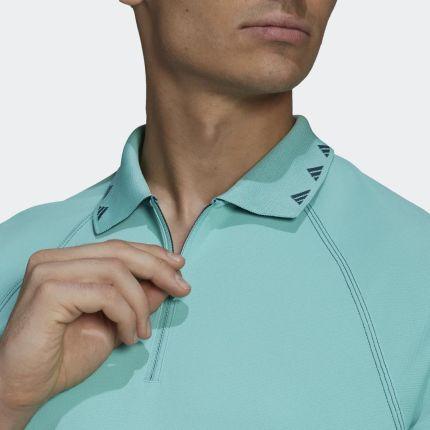 Adidas Equipment Zip Piqué Polo Shirt GM0052 - Ceny i opinie T-shirty i koszulki męskie RBXO