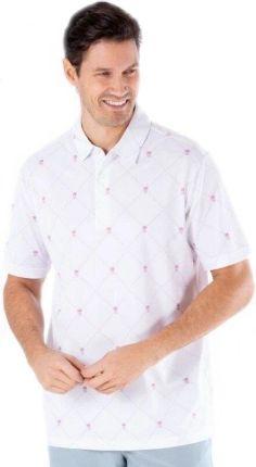 Sligo Bowie Mens Polo Shirt White L - Ceny i opinie T-shirty i koszulki męskie FGSV