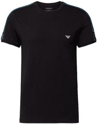 Emporio Armani T-Shirt Z Detalami Z Logo I Paskami W Kontrastowym Kolorze - Ceny i opinie T-shirty i koszulki męskie IDSQ