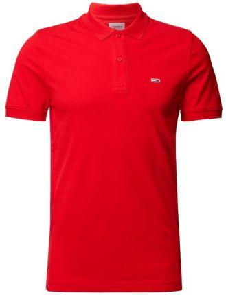 Tommy Jeans Koszulka Polo Z Mieszanki Bawełny - Ceny i opinie T-shirty i koszulki męskie SZXC