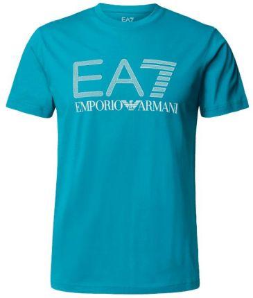 Ea7 Emporio Armani T-Shirt Z Nadrukiem Z Logo - Ceny i opinie T-shirty i koszulki męskie SIKP