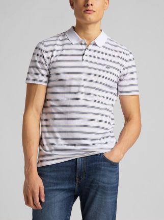 Lee Stripy Polo White - Ceny i opinie T-shirty i koszulki męskie CUIC