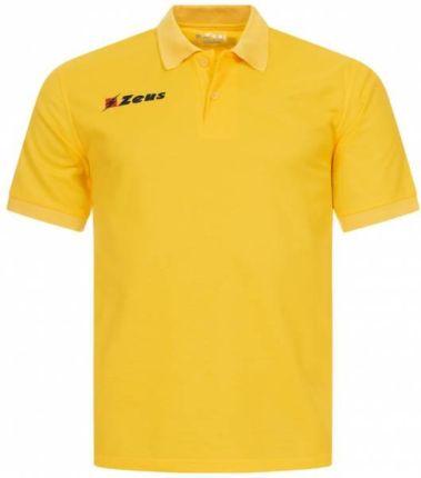 Zeus Basic Mężczyźni Koszulka Polo ŻÓłty - Ceny i opinie T-shirty i koszulki męskie KOSX