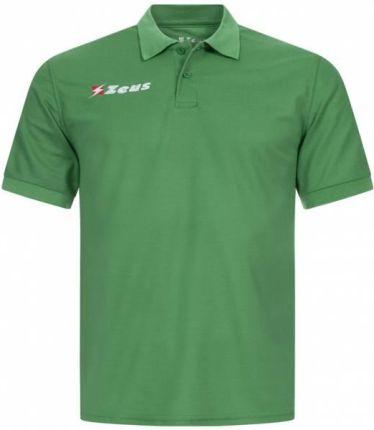 Zeus Basic Mężczyźni Koszulka Polo Zielony - Ceny i opinie T-shirty i koszulki męskie TSQH