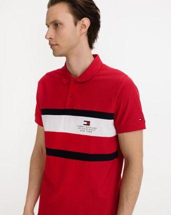 Tommy Hilfiger Cool Polo Koszulka Czerwony - Ceny i opinie T-shirty i koszulki męskie FFRZ