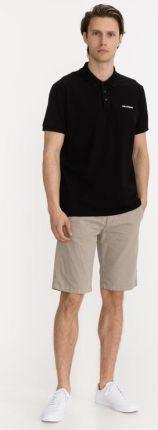 Karl Lagerfeld Polo Koszulka Czarny - Ceny i opinie T-shirty i koszulki męskie WVNU