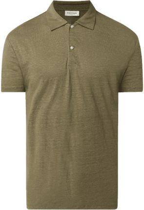 Bruun & Stengade Koszulka Polo Z Lnu Model 'Howland' - Ceny i opinie T-shirty i koszulki męskie SAQQ