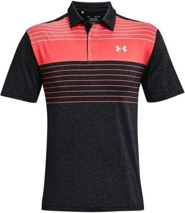 Under Armour Ua Playoff 2.0 Mens Polo Shirt Black/Venom Red L - Ceny i opinie T-shirty i koszulki męskie ZKBG