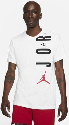 Jordan Męski T shirt z krÓtkim rękawem Jordan Air Biel - Ceny i opinie T-shirty i koszulki męskie QHVE