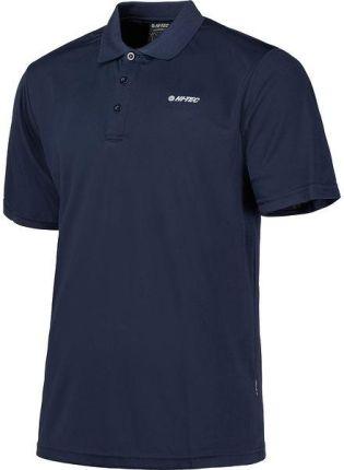 Koszulka męska polo Raketto II Hi Tec (navy blazer) - Ceny i opinie T-shirty i koszulki męskie ZNHU