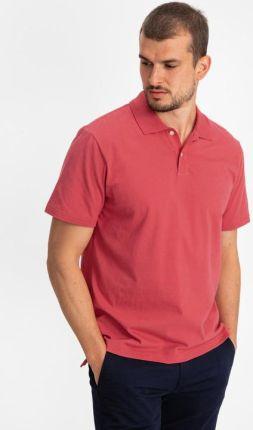 GAP Logo Polo Koszulka Czerwony - Ceny i opinie T-shirty i koszulki męskie CDNG