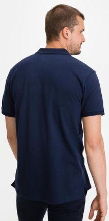 GAP Logo Polo Koszulka Niebieski - Ceny i opinie T-shirty i koszulki męskie PYVH