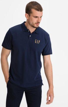 GAP Logo Polo Koszulka Niebieski - Ceny i opinie T-shirty i koszulki męskie SJLP