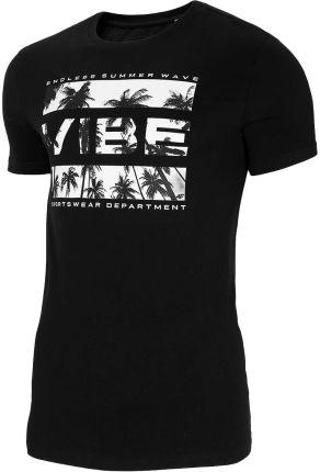 Koszulka T shirt 4F TSM026 głęboka czerń (H4L21 TSM026 20S) - Ceny i opinie T-shirty i koszulki męskie BKAB