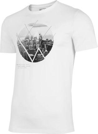 Koszulka T shirt 4F TSM023 biała (H4L21 TSM023 10S) - Ceny i opinie T-shirty i koszulki męskie PHGS