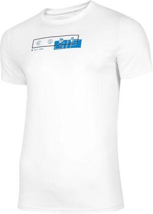 Koszulka T shirt 4F TSM021 biała (H4L21 TSM021 10S) - Ceny i opinie T-shirty i koszulki męskie JGTY