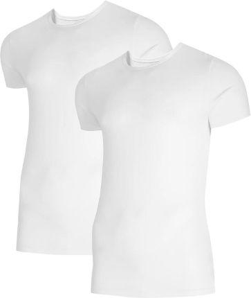 Koszulka T shirt 4F TSM011 biała + biała 2 szt. (NOSH4 TSM011 10S 10S) - Ceny i opinie T-shirty i koszulki męskie ZPZH