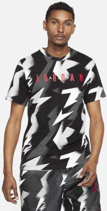 Jordan Męski T shirt treningowy z nadrukiem Jordan Jumpman Air Czerń - Ceny i opinie T-shirty i koszulki męskie DUSY