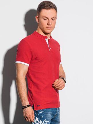 Koszulka męska polo klasyczna bawełniana S1381 czerwona S - Ceny i opinie T-shirty i koszulki męskie RZTB