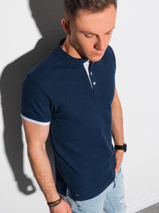 Koszulka męska polo klasyczna bawełniana S1381 granatowa S - Ceny i opinie T-shirty i koszulki męskie SDNP