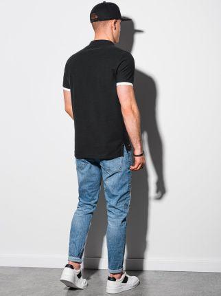 Koszulka męska polo klasyczna bawełniana S1381 czarna S - Ceny i opinie T-shirty i koszulki męskie XWTN