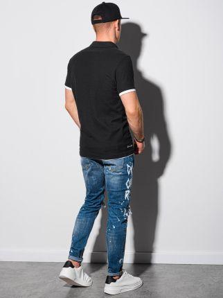 Koszulka męska polo klasyczna bawełniana S1382 czarna S - Ceny i opinie T-shirty i koszulki męskie UVGU