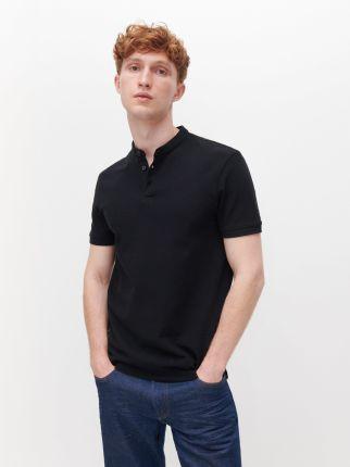 Reserved Koszulka polo ze stÓjką Czarny - Ceny i opinie T-shirty i koszulki męskie MPGD