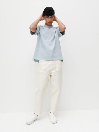 Reserved Bawełniany T shirt Niebieski - Ceny i opinie T-shirty i koszulki męskie EDZW