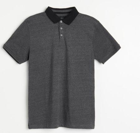 Reserved Gładkie polo Szary - Ceny i opinie T-shirty i koszulki męskie AQXZ