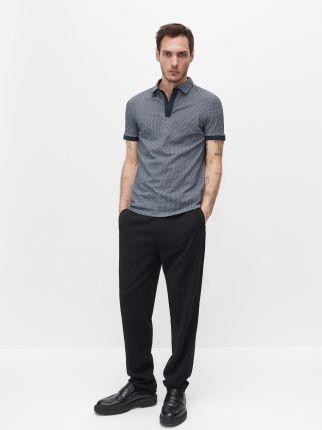 Reserved Polo slim fit Granatowy - Ceny i opinie T-shirty i koszulki męskie QHXS