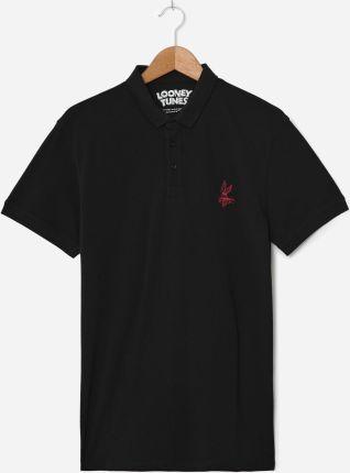 House Koszulka polo Looney Tunes Czarny - Ceny i opinie T-shirty i koszulki męskie KJPZ
