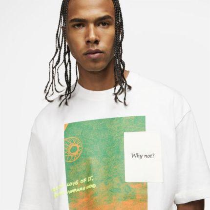 """Jordan Jordan """"Why Not?""""Męski T-shirt z krÓtkim rękawem - Biel - Ceny i opinie T-shirty i koszulki męskie JQAM"""
