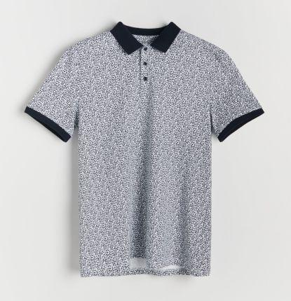 Reserved - Koszulka polo z nadrukiem - Biały - Ceny i opinie T-shirty i koszulki męskie LJKJ