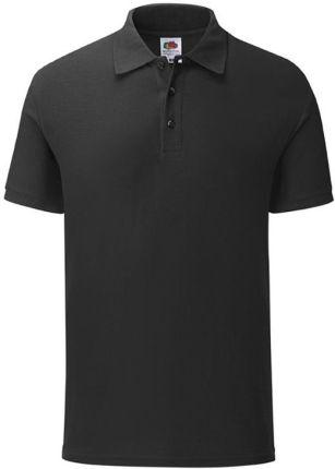 Koszulka męska Tailored Fit Polo 65/35 Fruit of the Loom - Czarny - Ceny i opinie T-shirty i koszulki męskie LZFP