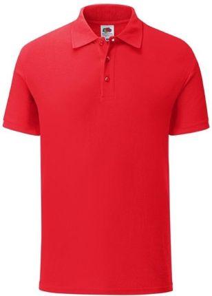 Koszulka męska Tailored Fit Polo 65/35 Fruit of the Loom - Czerwony - Ceny i opinie T-shirty i koszulki męskie OFDF