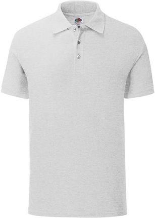 Koszulka męska Tailored Fit Polo 65/35 Fruit of the Loom - Heather Grey - Ceny i opinie T-shirty i koszulki męskie TOVV