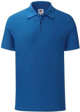 Koszulka męska Tailored Fit Polo 65/35 Fruit of the Loom - Niebieski - Ceny i opinie T-shirty i koszulki męskie IRWL