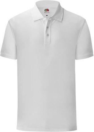 Koszulka męska Iconic Polo z odrywaną metką Fruit of the Loom - Biały - Ceny i opinie T-shirty i koszulki męskie VMWX