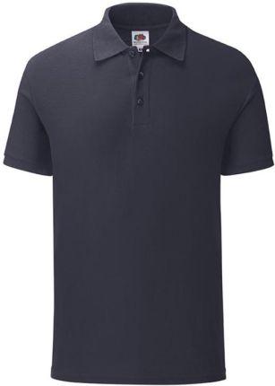 Koszulka męska Iconic Polo z odrywaną metką Fruit of the Loom - Ciemnogranatowy - Ceny i opinie T-shirty i koszulki męskie QURN