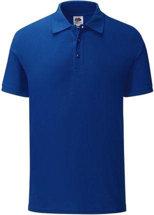 Koszulka męska Iconic Polo z odrywaną metką Fruit of the Loom - Cobalt Blue - Ceny i opinie T-shirty i koszulki męskie YUNK