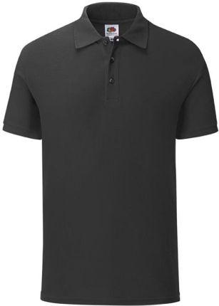 Koszulka męska Iconic Polo z odrywaną metką Fruit of the Loom - Czarny - Ceny i opinie T-shirty i koszulki męskie GLUX