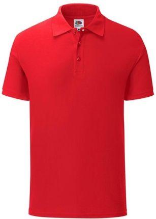 Koszulka męska Iconic Polo z odrywaną metką Fruit of the Loom - Czerwony - Ceny i opinie T-shirty i koszulki męskie TFOE