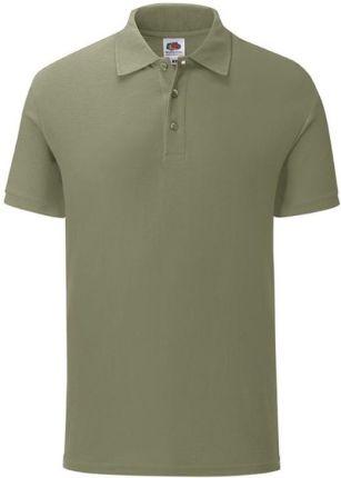 Koszulka męska Iconic Polo z odrywaną metką Fruit of the Loom - Klasyczna oliwka - Ceny i opinie T-shirty i koszulki męskie COFT
