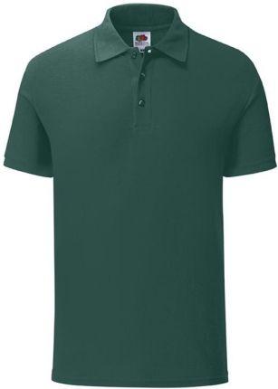 Koszulka męska Iconic Polo z odrywaną metką Fruit of the Loom - Leśny Zielony - Ceny i opinie T-shirty i koszulki męskie UOHH