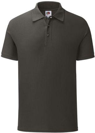 Koszulka męska Iconic Polo z odrywaną metką Fruit of the Loom - Light Graphite - Ceny i opinie T-shirty i koszulki męskie ADIC