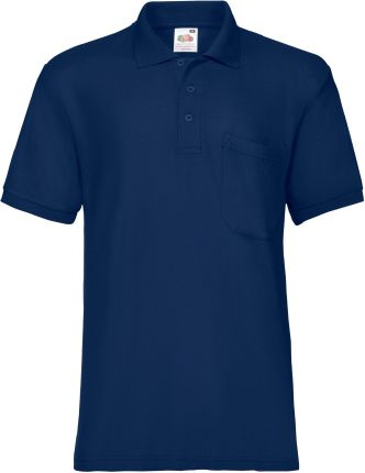 Koszulka męska 65/35 Pocket Polo Fruit Of The Loom - Granatowy - Ceny i opinie T-shirty i koszulki męskie ANJT